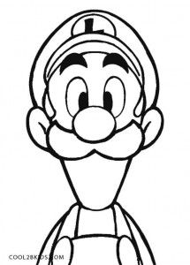 printable luigi coloring pages for kids cool2bkids line art