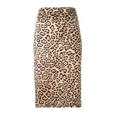 GIVENCHY Leopard Print a-Line Skirt (€440) ❤ liked on Polyvore featuring skirts, animalier, leopard skirt, a line skirt, brown silk skirt, high waisted knee length skirt and givenchy skirt