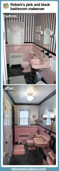 Robert's pink and black bathroom makeover - Retro Renovation