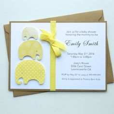 woodland baby shower invitation handmade