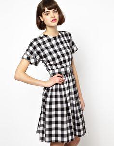 Antipodium Hatchet Dress in Black Lumberjack Check