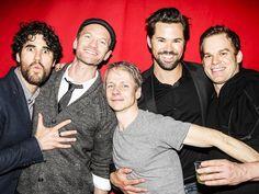 Hedwigs past, present & future! Darren Criss, Neil Patrick Harris, John Cameron Mitchell, Andrew Rannells and Michael C. Hall
