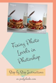 Fixing Photo Levels in Photoshop - Tips for bloggers and PS newbies