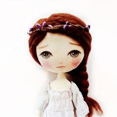Handmade cloth doll Fabric doll Ragdoll Doll for by MeoMunCraft