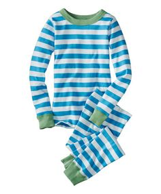 Hanna Andersson PJs - William literally puts these on the second we walk in the door at home. They last FOREVER. $24.99 reg 40. Look what I found on #zulily! Splash & White Stripe Long-Sleeve Organic Pajama Set - Infant, Toddler & Kids #zulilyfinds