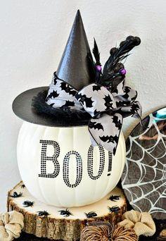 Delightful Creative Halloween Decoration Ideas #7 - Black Pumpkin Decorating Ideas