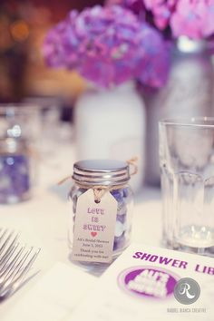 cute birdal shower and wedding guest favor ideas personalized glass favor jars wedding