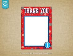 Printable Polka Dot Birthday Thank You Cards