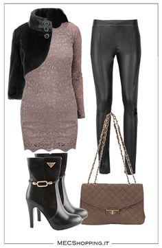 Salutiamo l'autunno ..  Abito:http://www.mecshopping.it/shop/donna/magliedonna/mini-abito.html Leggings:http://www.mecshopping.it/shop/donna/leggings-1/leggings-poliestere.html Stivaletto:http://www.mecshopping.it/shop/scarpe/scarpe-donna/stivalettidonna/stivaletto-42664.html Coprispalla:http://www.mecshopping.it/shop/donna/coprispalledonna/coprispalla-pollestere.html Borsa:http://www.mecshopping.it/shop/borse/donna/borse-a-tracolla/borsa-a-tracolla-45608.html