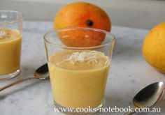 Mangoes plus custard - what more could you want in summer! An easy Thermomix mango custard recipe Mango Custard Recipe, Custard Recipes, Thermomix Cheesecake, Thermomix Desserts, Dairy Free Recipes, Diabetic Recipes, Cooking Recipes, Desserts To Make, Dessert Recipes