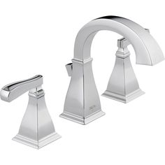 Delta Olmsted Spotshield Brushed Nickel 2-Handle Widespread WaterSense Bathroom Faucet (Drain Included)