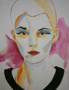 "Saatchi Online Artist richard kuhn; Painting, ""Portrait fashion model"" #art"