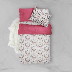 A personal favorite from my Etsy shop https://www.etsy.com/listing/464809879/toddler-bedding-sets-pink-boho-skull