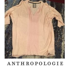 Anthropologie Dolan Pink Tunic Half Sleeve Top Anthropologie Dolan Pink Tunic Half Sleeve Top. Bust is approx. 18 inches. 25 inches long. Fabric Fold pleats down the front. Excellent condition. Feel free to make an offer. Anthropologie Tops Blouses