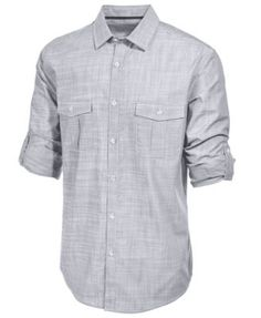 Alfani Men's Long Sleeve Warren Shirt   macys.com