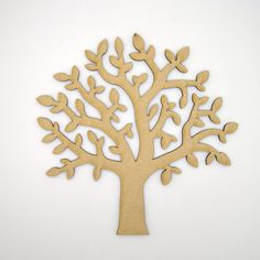 Wooden MDF Tree Shape craft blank, wedding, guestbook, decoupage family tree