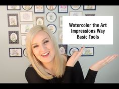All the basic tools needed for the Watercolor the Art Impressions Way technique are included in this video. Future videos may include additional tools needed...