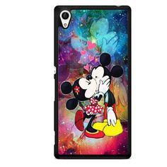Mickey Minnie Kiss Nebula Galaxy TATUM-7190 Sony Phonecase Cover For Xperia Z1, Xperia Z2, Xperia Z3, Xperia Z4, Xperia Z5