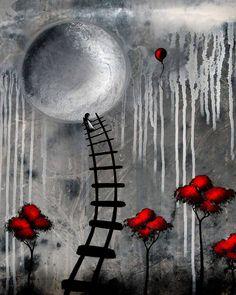 Lowbrow Art Fantasy Print Just Another Dream by BestArtStudios2