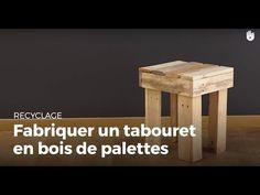 Fabriquer un tabouret en bois de palettes (2) - YouTube