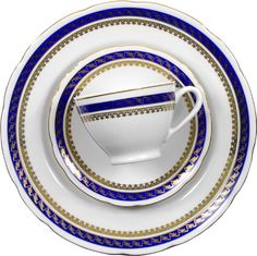 The Blue Cobalt with the Gold is just Stunning! The Design will be as delicious as the meal!  Dinner Set, 12 Place Settings Feston Design – Gifts by Kasia