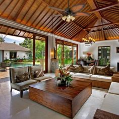 Shop Prominence Home Pacific Sail Tropical Aged Bronze Ceiling Fan with Light, Mocha Blades, 3 Speed Remote - Overstock - 22353646 Deco Studio, Wood Table Design, Cabin In The Woods, Woodworking Furniture Plans, Mediterranean Decor, Mediterranean Architecture, Built In Bookcase, Architecture Design, Living Spaces