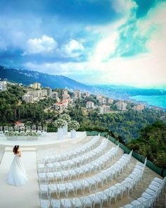Nothing like tying the knot in #Lebanon to this breathtaking view 🍃