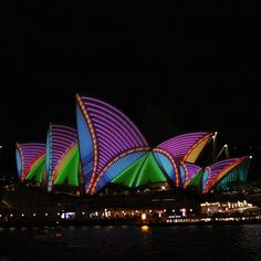 Vivid Sydney 2013 #Sydney #Australia This has got to be one of my favorite pieces of architecture