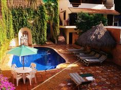 Casa de la Reyna in Bucerias from VRBO One and two bedroom units available Oceanfront Vacation Rentals, Vacation Villas, Bucerias Mexico, Beach Properties, San Fransisco, Best Vacations, Beach Fun, Great Places, Swimming Pools