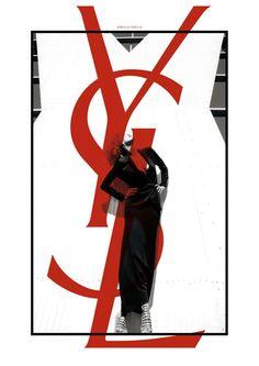 YSL branding & logo