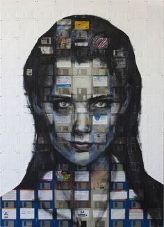 Floppy disk art by Nick Gentry - WallArt101...