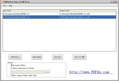 PDFdu Free Text to PDF Converter es un software gratuito, compatible con Windows, para convertir texto a PDF de forma sencilla y rápida.