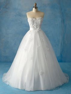 Wedding Dress Option 3 (I believe this one is inspired by either Sleeping Beauty or Snow White)