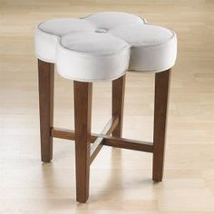 Whimsical and charming, the Clover vanity stool is a lovely addition to your bed or bath. Whether your décor is retro fun or sweet whimsy, the Clover stool is your perfect choice.