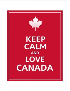 canada day keep calm-