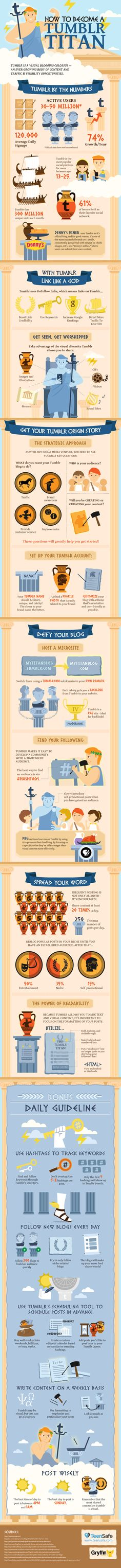 How to become a Tumblr titan. #infographic #design (View more at www.aldenchong.com)