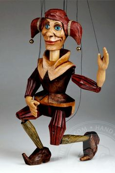 Czech Marionettes | Jester Marionette Puppet