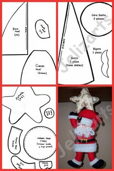 moldes natal - Her Crochet Christmas Sewing, Felt Christmas, All Things Christmas, Christmas Holidays, Christmas Projects, Christmas Crafts, Christmas Decorations, Christmas Ornaments, Diy Projects Handmade