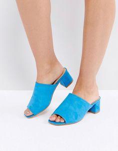 Truffle Collection Kitten heel Mule Sandal - Blue
