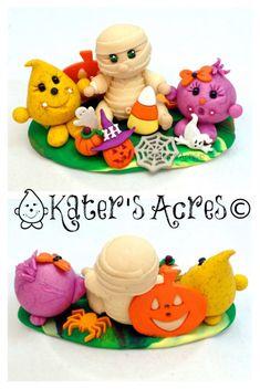 Halloween Parker Polo & momia figurita escena de por KatersAcres