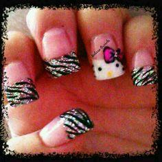 Acrylic Nails (glitter) & nail art