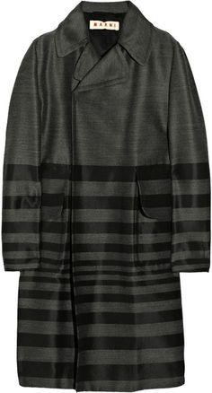 MARNI   Striped Wool-blend Coat