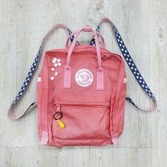 """kankan DIY (材料在永樂市場購入)""  Kånken classic 桃粉紅  by 公司巧手會計"