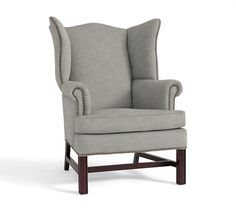gray wingback chair. Thatcher Upholstered Wingback Chair | Pottery Barn AU Gray R