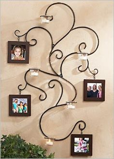Wrought iron wall hanging. Super cute.