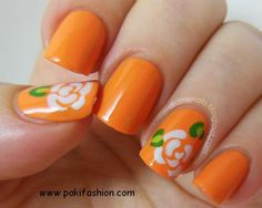 Orange w/ white rose + many other ideas on this site