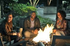 Fire Pit in the courtyard at The Point at Silver Spring #firepit #fire #fall #apartmentcomplex #apartmentbuilding #amenities