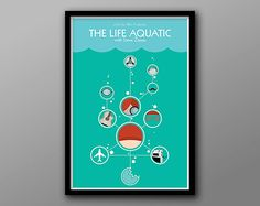 The Life Aquatic  Minimalist Alternate Movie Poster by TheGeekerie