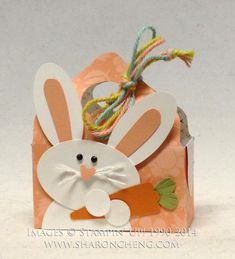 Punch Art Easter Bunny by ccc - Cards and Paper Crafts at Splitcoaststampers Link to directions