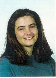 """Missing Woman: Kimberly Diane Greene-Medina --CO-- 10/29/1996; Age at Time of Disappearance: 19  Gender: Female  Race: White  Height: 65 inches  Weight: 150 pounds  Hair Color: Lt. Brown  Eye Color: Brown  Complexion: Medium  Identifying Characteristics: Has given birth to two children, ages 2 and 3 at time of her disappearance.  Clothing: Maroon sweatshirt, blue jeans, ocean blue work jacket with """"Super Shuttle"""" in yellow lettering and tan hiking boots."""